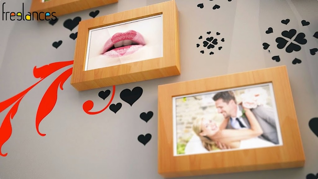 diaporama vidéo mariage modèle cadres photos photo focalisation 03