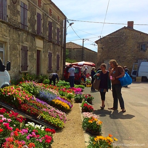 French Village Diaries weekend in rural France plant sale