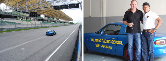 driving experience in sepang international circuit malaysia