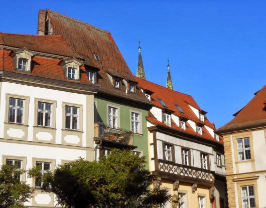 Häuser am Pfahlplätzchen in Bamberg