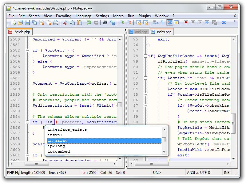 Screenshot of Notepad++ v.6.4.3 Offie Tools PC Software Free Download at alldownloads4u.com