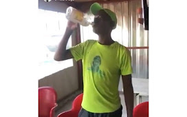 Outrage as  man drink himself to Death in a Viral Vido