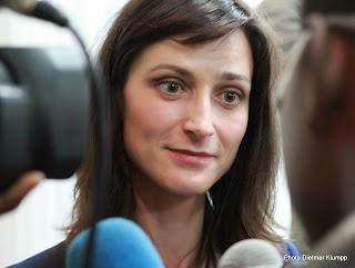 Maria Gabriel, chef de mission de suivi électoral de l'Union européenne en RDC, le 13 juin 2014 à Kinshasa. (Photo Dietmar Klumpp)