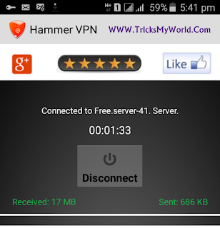 hammer vpn premium account havk