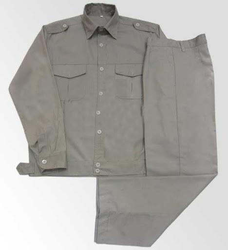 Quần áo bảo hộ lao động vải kaki HQ màu ghi đá- QAK0014
