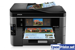 How to reset Epson WorkForce 840 printer