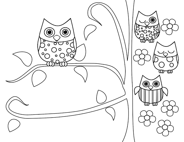 Cute Owl Coloring Pages Printable Coloring Pages