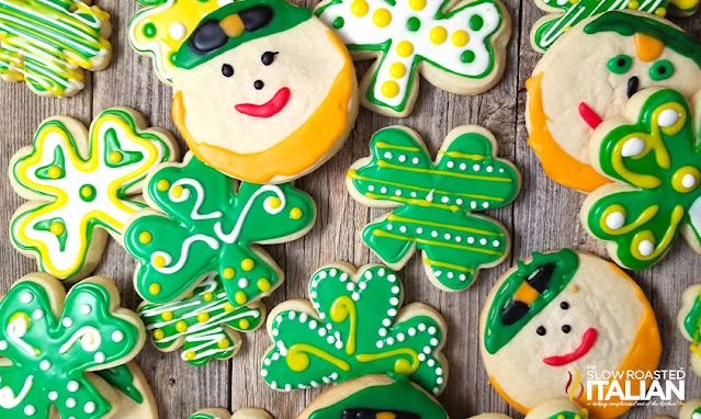 St. Patrick's Day Decorated Sugar Cookies