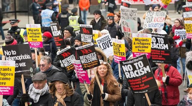 Protesters in London over the death of George Floyd