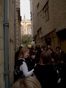 An alley on the way to matriculation