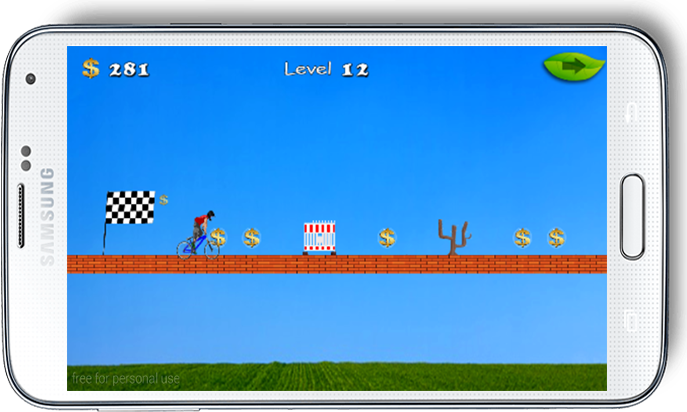 android The Rich Bicyclist Adventure Screenshot 2