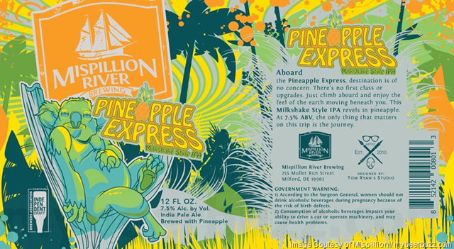 Mispillion River - Pineapple Express Milkshake Style IPA