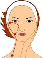 Шаг 6. Поднимаем нижнюю часть лица