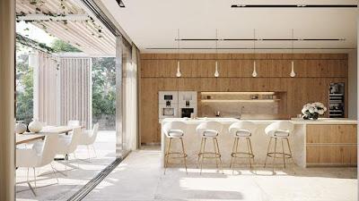 مطبخ مفتوح على الصالون