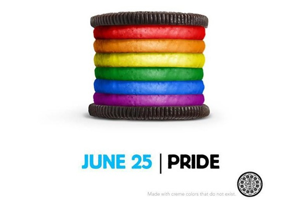 The Oreo Gay Pride Rainbow Cookie