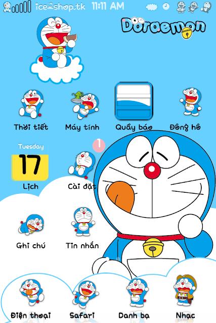 THEME] Doraemon kute cho iPhone 4/4s/5 | Tinhte vn