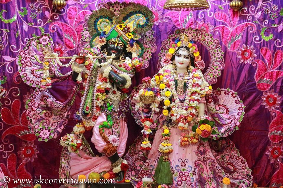ISKCON Vrindavan Sringar Deity Darshan 08 April 2016 (6)
