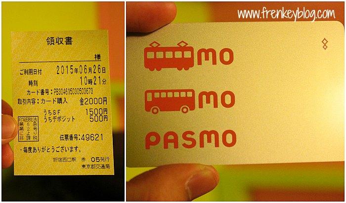 Pasmo Card Japan - Deposit 500 Yen