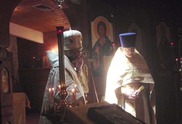 Vladyka and Fr. John.