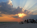 Beautiful sunset at Siesta Beach (© 2014 Isabell Gernert)