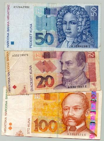 Chorwackie banknoty