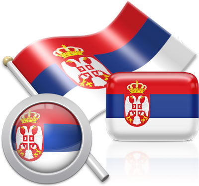Serbian flag icons pictures collection