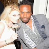 WWW.ENTSIMAGES.COM -   Lady Charlotte Lynham and Rohan Bonnick   at    Gin and Jazz Evening Palm Court at The Langham London Hotel October 10th 2013                                     Photo Mobis Photos/OIC 0203 174 1069