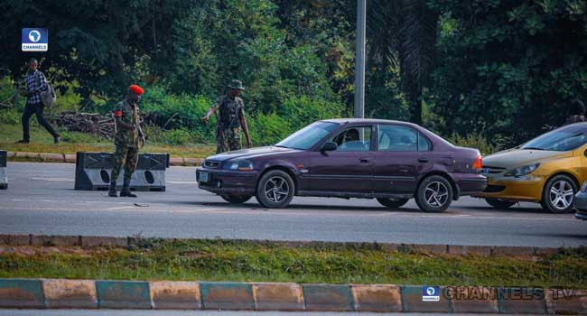 Soldiers Take Over And Block Scene Of Planned #EndSARS Protest In Abuja