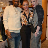 WWW.ENTSIMAGES.COM -        Carlton Gayle, Aisleyne Horgan Wallace   and Lewis-Duncan Weedon at         Fashion with Oui Friends in Harpenden Hertfordshire November 21st 2013                                           Photo Mobis Photos/OIC 0203 174 1069