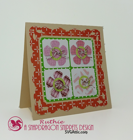 SnaoDragon snippets, flowers quartet card, Ruthie Lopez 2
