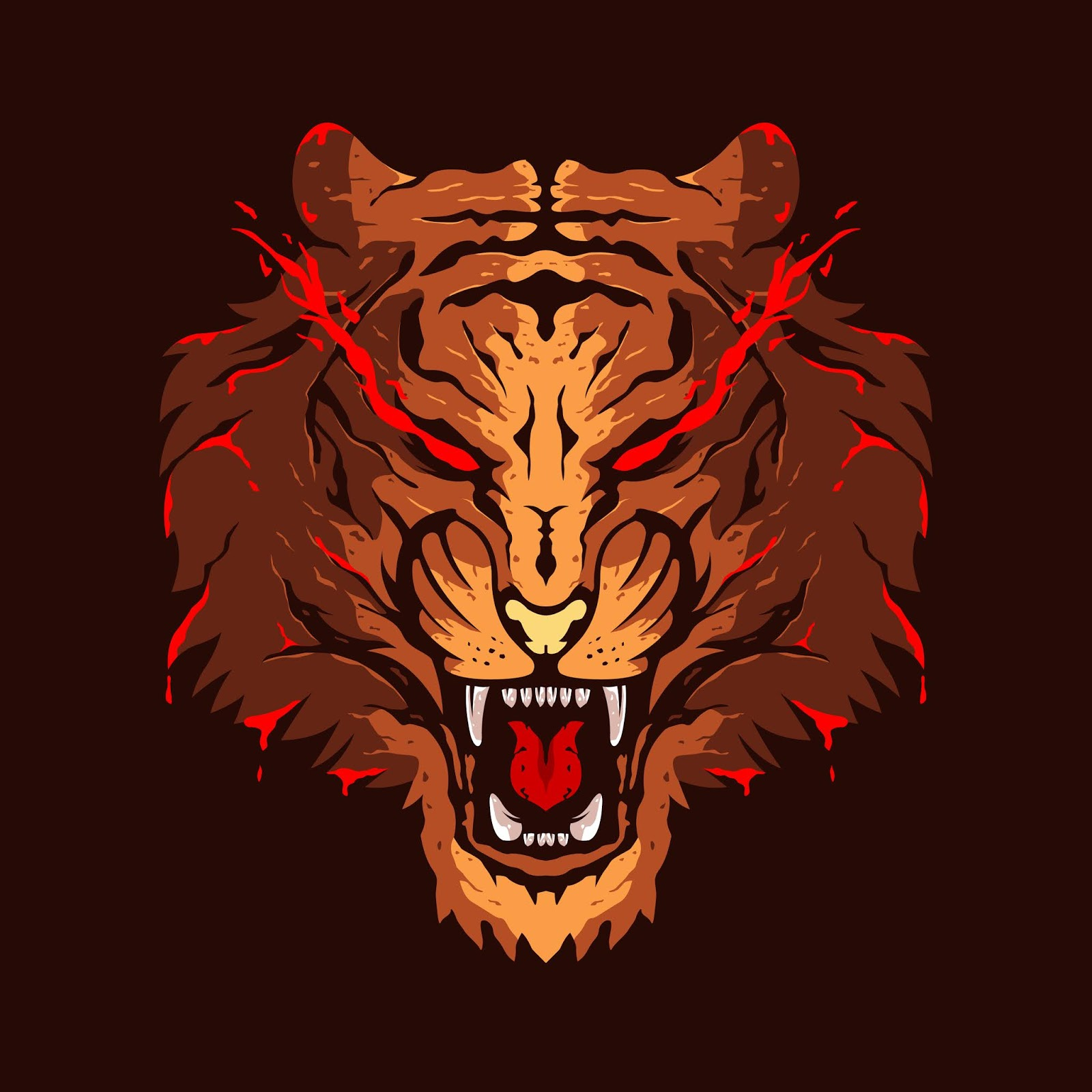 Tiger Head Illustration Colour Logo Design Free Download Vector CDR, AI, EPS and PNG Formats