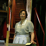 Jean Carney backstage during THE ROYAL FAMILY - December 2011.  Property of The Schenectady Civic Players Theater Archive.