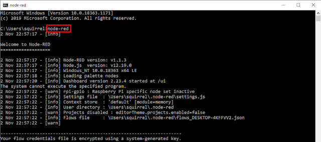 Install Node-RED in Windows