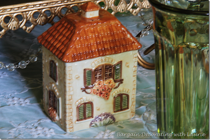 Cottage Salt Shaker on St. Pat's Day Table
