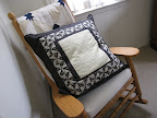 A pillow to match almost every bedspread - this one has ferns machine-quilted in the center.