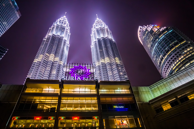 Twin Towers night view KLCC park2