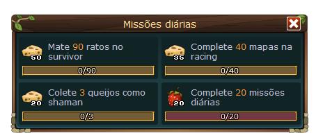 missões diárias tfm