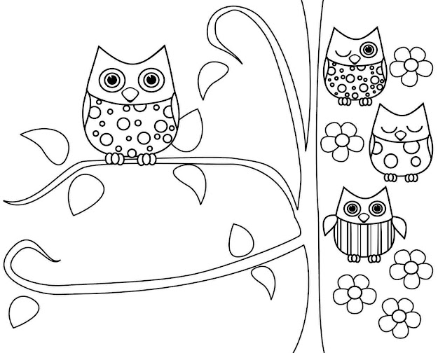 Owl Printable Coloring Pages Your Kiddos Love