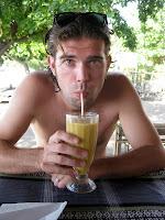 Delicious fresh mixed juice - Gili Air