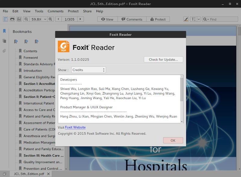 Foxit Reader pada Linux