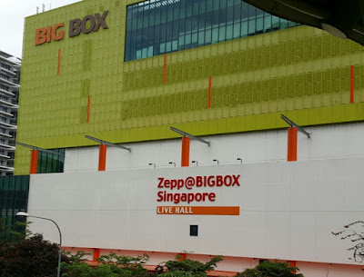 Signage on the facade of Big Box megamall.