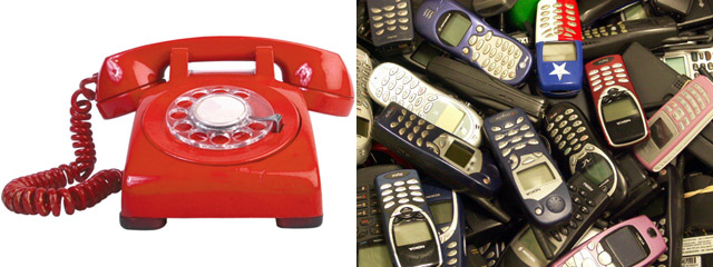 Transformation of Telephones to Cell Phones