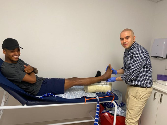 Sundowns star Morena takes a giant step towards recovery after freak ankle injury - SowetanLIVE