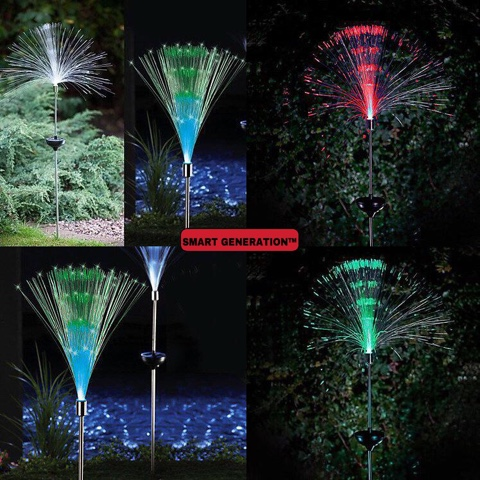 Smart Generation Lampu Solar Taman Fiber Optik Colourful