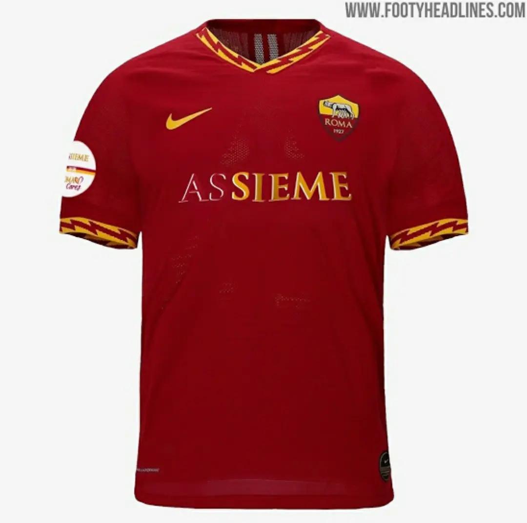 "gambar ringan jersey as roma spesial pandemik coroan atau AS Roma Rilis Jersey di Tengah Pandemik Corona ""Limited Edition"""