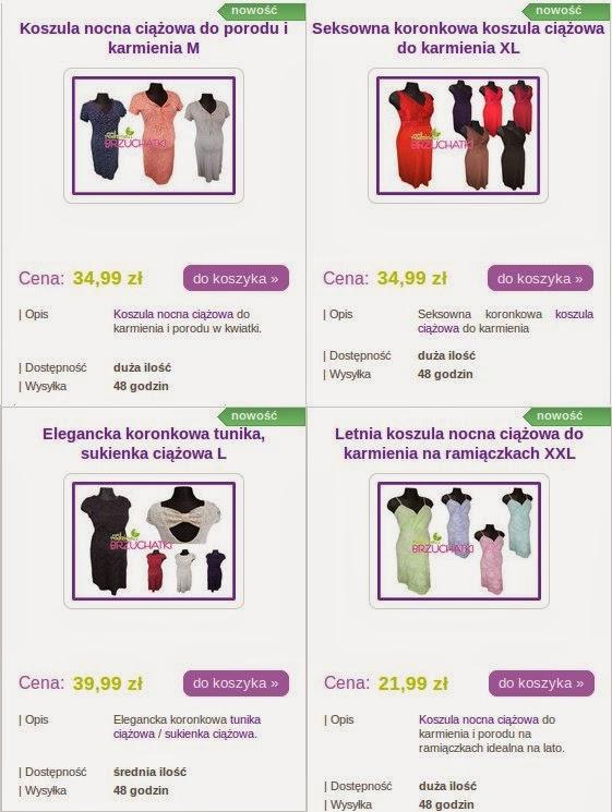 brzuchatki sklep internetowy z odzieżą ciążową