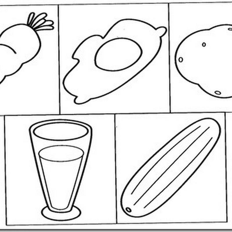 Colorear alimentos dibujos para niños