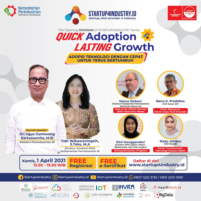 Opening Seminar Startup4industry Quick Adoption Lasting Growth