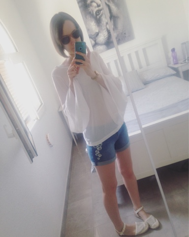 Awkward mirror selfie