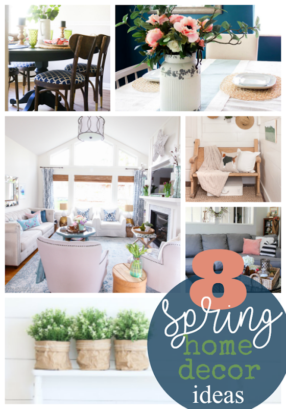 8 spring home decor ideas at GingerSnapCrafts.com #spring #homedecor